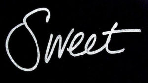 sweet written in cursive