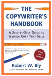 Copywriting books with pencils
