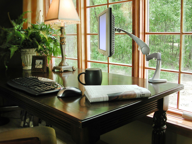 Home writing office space